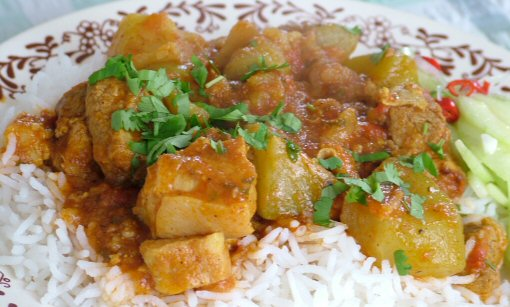 choko curry with pork