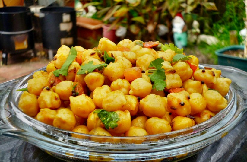 Spiced Boiled Chickpeas