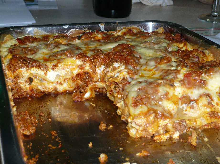 lasagna mauritian style with optional chilli