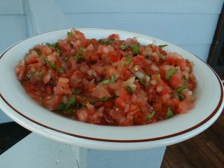chatini pomme d'amour   tomato salsa